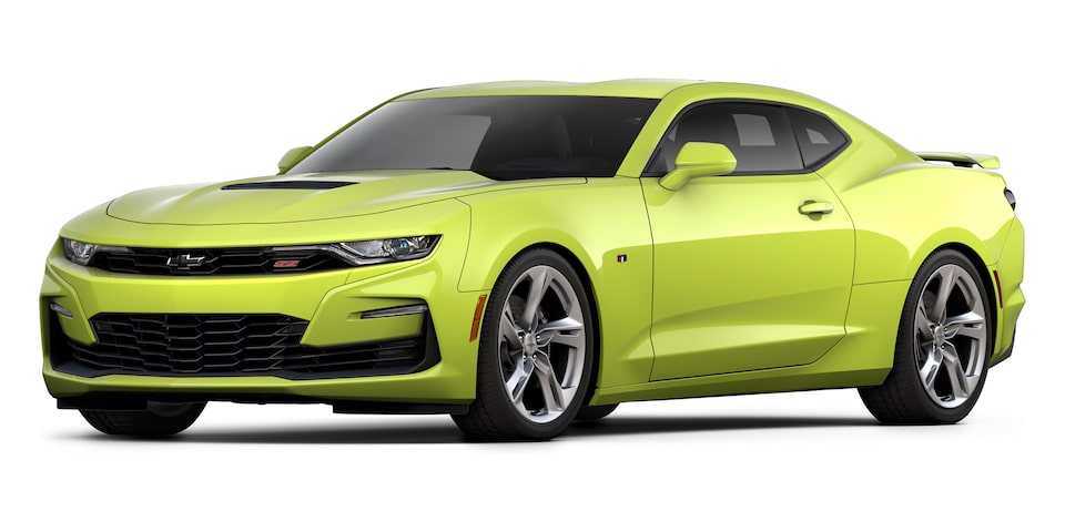 Chevrolet Camaro Coupé 2020, deportivo en color Flash Yellow