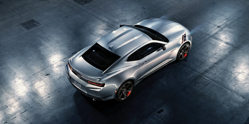 Vista superior de Chevrolet Camaro 2020, deportivo, Red Line Edition